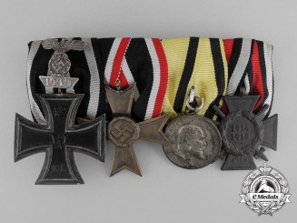 An Iron Cross 1914 with 1939 Spange Medal Bar