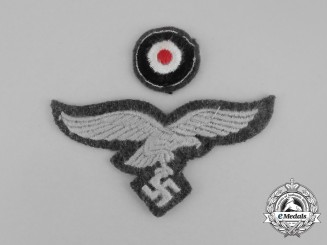 A Luftwaffe Side Cap Eagle and Cockade