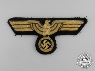 A Kriegsmarine Officer's Breast Eagle; Uniform Removed