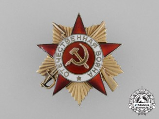 A Soviet Russian Order of the Patriotic War; 1st Class
