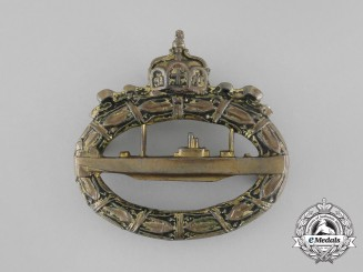 A First War German Imperial Submarine (U-Boat) Badge by Paul Meybauer, Berlin