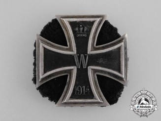 A First War Iron Cross 1st Class 1914; Scewback by A. Werner & Söhne, Berlin
