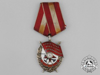 A Soviet Russian Order of the Red Banner; Type 4