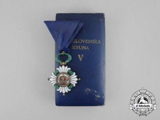 An Order of the Yugoslav Crown; 5th Class Knight with Case
