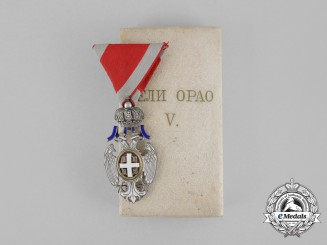 A Serbian Order of the White Eagle; 5th Class Knight, Type II (1903-1941)