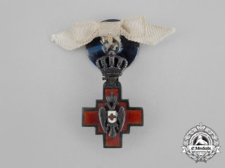 A Miniature Serbian Cross of the Red Cross Society