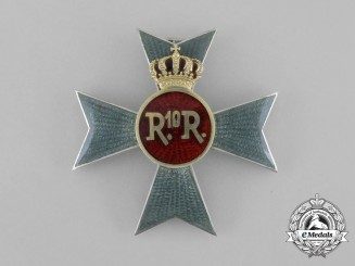 A Romanian Cavalry Officer's Seven Years' Service Regimental Badge