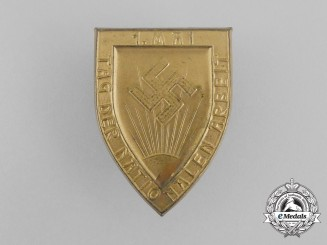 A Third Reich Period National Day of Labour Badge