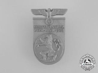 A 1938 NSDAP Bergland District Council Day Badge by Richard Sieper & Söhne