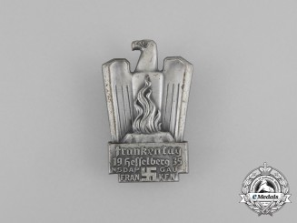 A 1935 NSDAP Hesselberg Day of the Franks Badge
