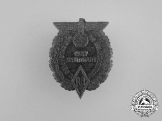 A 1937 5th National Meeting of Ethnic Germans in Stuttgart Badge
