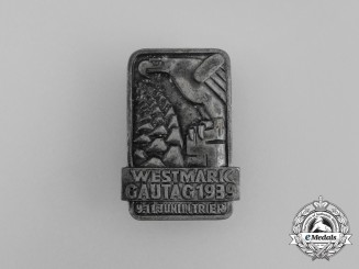 A 1939 Westmark Regional Council Day Badge by Julius Maurer