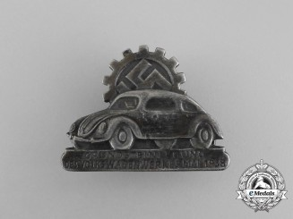 Germany. A 1938 Fallersleben Volkswagen Factory Cornerstone Laying Ceremony Badge