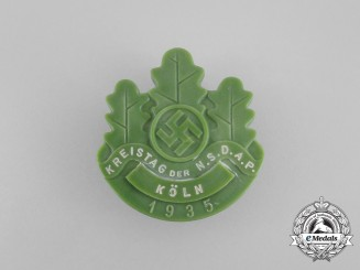 A 1935 NSDAP Cologne District Council Day Badge