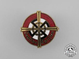 """A Third Reich period """"German Christians"""" Membership Badge by Paulmann & Crone"""
