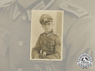A Wartime Photo of Panzer Feldwebel with EK1 & HJ Badge