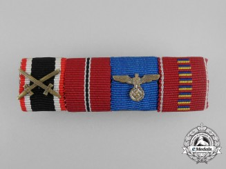 A Second War German Romanian Anti-Communist Service Medal Ribbon Bar