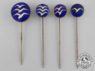 Four Civilian Glider's Proficiency Stick Pins
