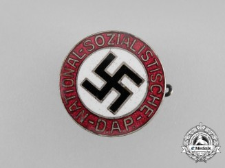 A Small NSDAP Party Member's Lapel Badge; Marked