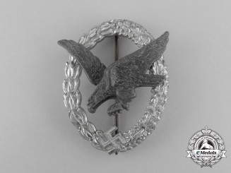 A Luftwaffe Air Gunner Badge (Without Lightning Bolts) by Berg & Nolte