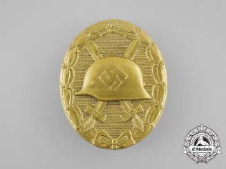 A Mint Second War German Gold Grade Wound Badge