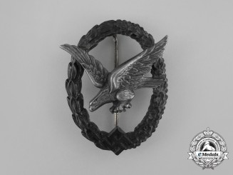 A Luftwaffe Air Gunner Badge (Without Lightning Bolts) by Wilhelm Deumer