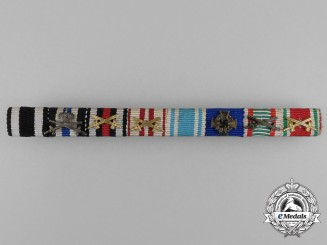A First and Second War German/Austrian Long Service Medal Ribbon Bar