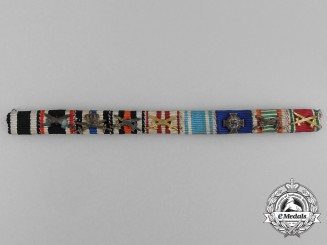 A First and Second War German/Austrian Long Service Medal Ribbon Bar