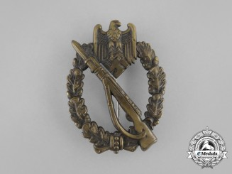 An Early Second War German Bronze Grade Infantry Assault Badge