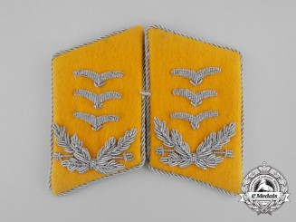 A Set of Mint and Unissued Matching Luftwaffe Flight Hauptmann Rank Collar Tabs