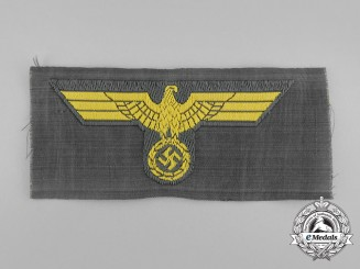 A Mint and Unissued Kriegsmarine Coastal Artillery NCO/EM Overseas Cap Eagle
