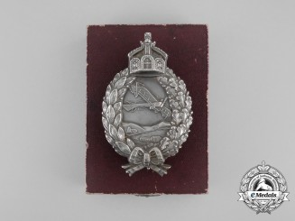 A Fine Quality First War Prussian Pilot's Badge by C. E. Juncker in its Original Case of Issue