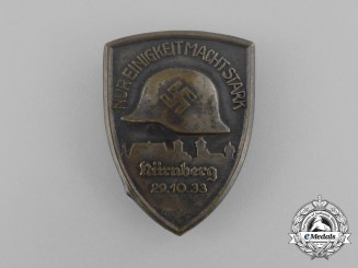 "A 1933 Nürnberg ""Only Unity makes Us Strong"" Badge"