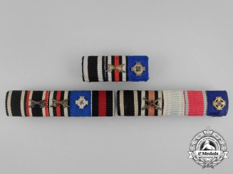 Three First and Second War German Faithful Service Ribbon Bars