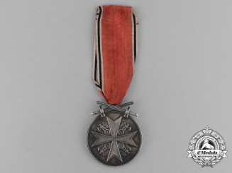 A German Eagle Order with Swords Silver Medal by the Official Berlin State Mint