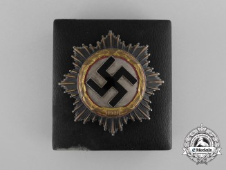 An Early Deschler Made German Cross in Gold with Early Reduced Sized Case