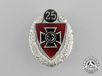 A 25-Year German Veteran's Association Membership Badge by Fritz Zimmermann