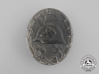 A German Silver Grade Wound Badge by Moritz Hausch A.G.