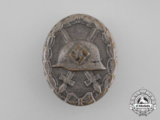 A German Silver Grade Wound Badge by B.H. Mayer of Pforzheim