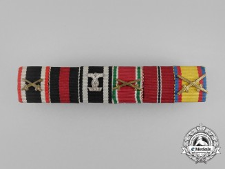 A Unique First and Second War German Medal Ribbon Bar
