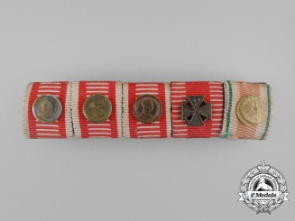 A First War Austrian Bravery Decoration Medal Ribbon Bar