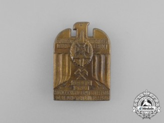 A 1935 NSKOV Dortmund Front Fighters and War Victims Remembrance Day Badge