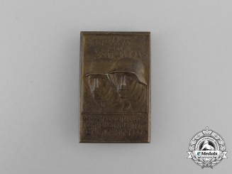 "A 1937 ""Shoulder on Shoulder"" Meeting of German and Austrian Soldiers Badge"