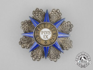 An Order of Pius; Grand Cross Breast Star