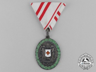 An Austrian Honour Decoration of the Red Cross' Silver Medal with War Decoration
