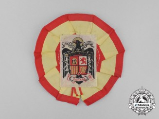 A Spanish Civil War Franco Period Supporter's Rosette