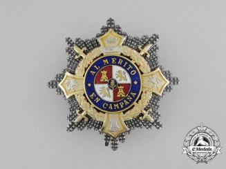 A Second War Period Spanish War Cross, Breast Star, Type I (1938-1942)