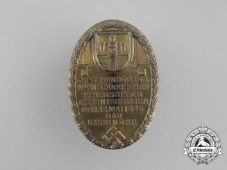 A 1936 Remembrance of the Mainfranken Front Soldier Veterans and War Casualties Badge