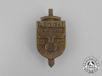 A 1925 10-Year of Battle of NSDAP in the Baden Region Badge