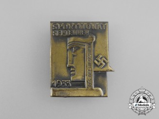 A 1933 September Sports Month in Hildesheim Badge